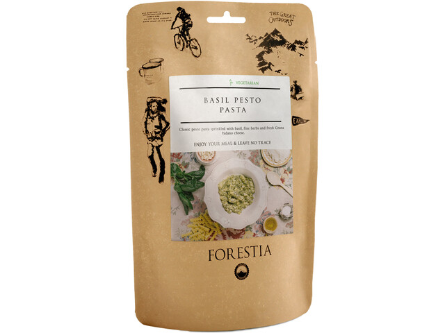 Forestia Repas outdoor Végétarien 350g, Basil Pesto Pasta